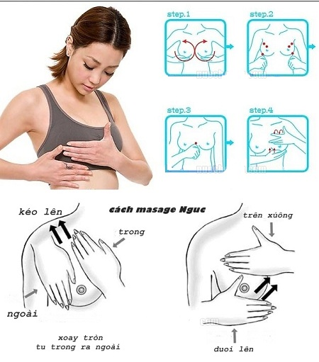 Cách massage làm ngực săn chắc đơn giản
