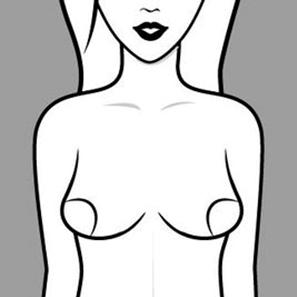 Dáng ngực khiến ngực không có khe