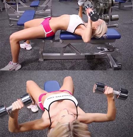 Cách làm ngực to hơn nhanh chóng với động tác đẩy tạ