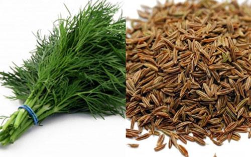 Dùng hạt thì là cũng giúp tăng sie cho núi đôi
