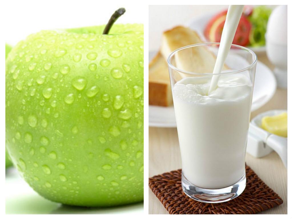 Hỗn hợp táo và sữa chua