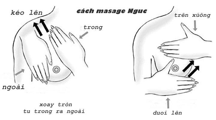 Massage ngực với dầu oliu đơn giản